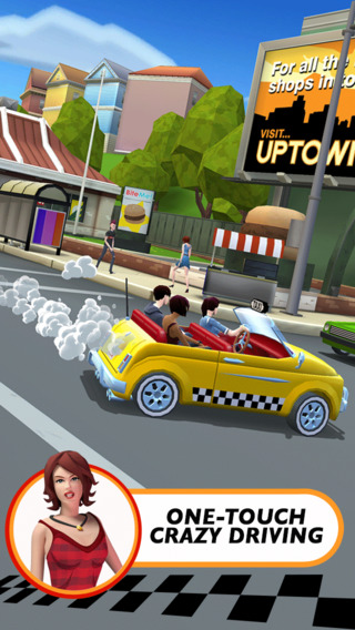 Crazy Taxi City Rush 10 for iOS (iPhone screenshot 002)