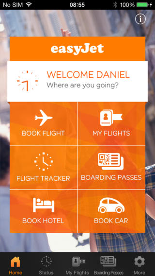 EasyJet 2.7.5 for iOS (iPhone screenshot 001)