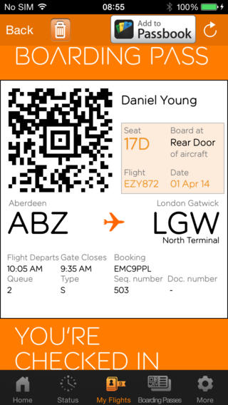 EasyJet 2.7.5 for iOS (iPhone screenshot 003)