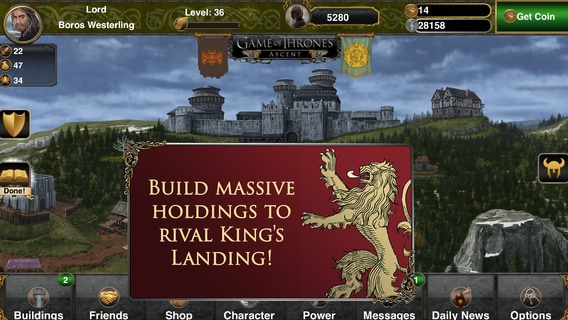 Game of Thrones Ascent 2.0 for iOS (iPhone screenshot 001)