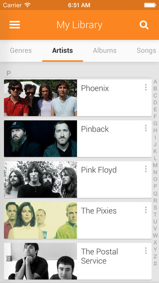 Google Play Music 1.3 for iOS (iPhone screenshot 001)