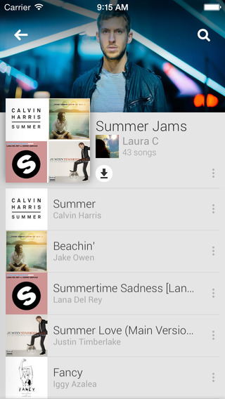 Google Play Music 1.3 for iOS (iPhone screenshot 002)