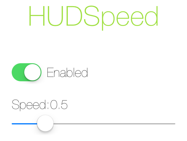 HUDSpeed Settings