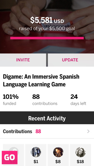 Indiegogo 1.3 for iOS (iPhone screenshot 005)