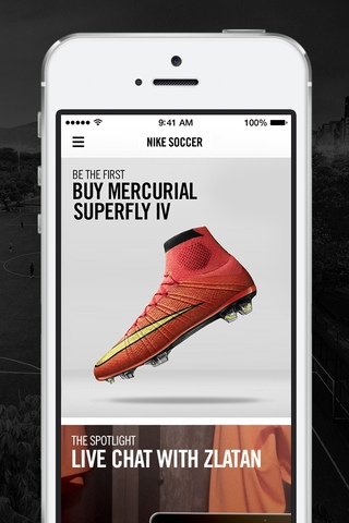 Nike Soccer 1.0 for iOS (iPhone screenshot 001)