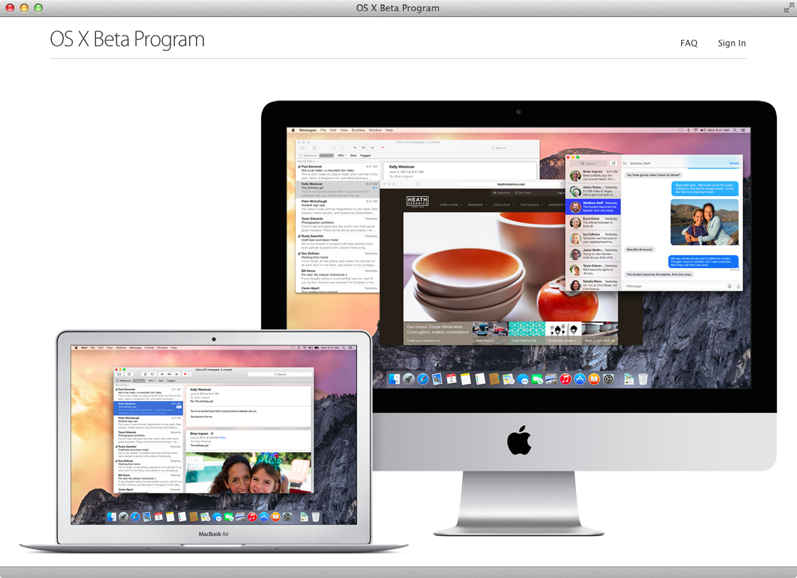 OS X Yosemite Public beta (step 1)