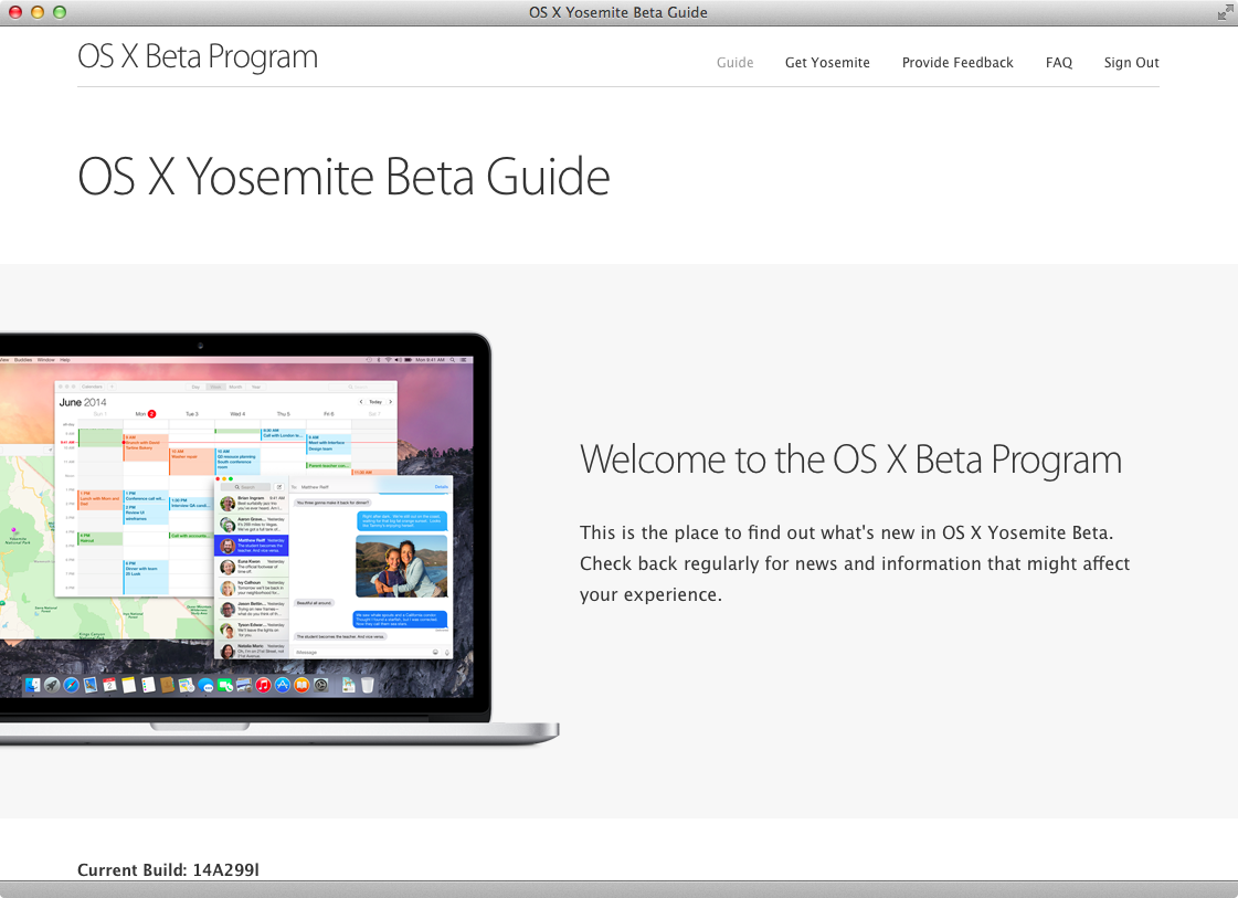 OS X Yosemite Public beta (step 3)