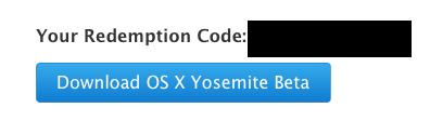 OS X Yosemite redemption code