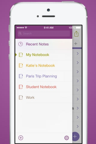 OneNote 2.3 for iOS (iPhone screenshot 002)