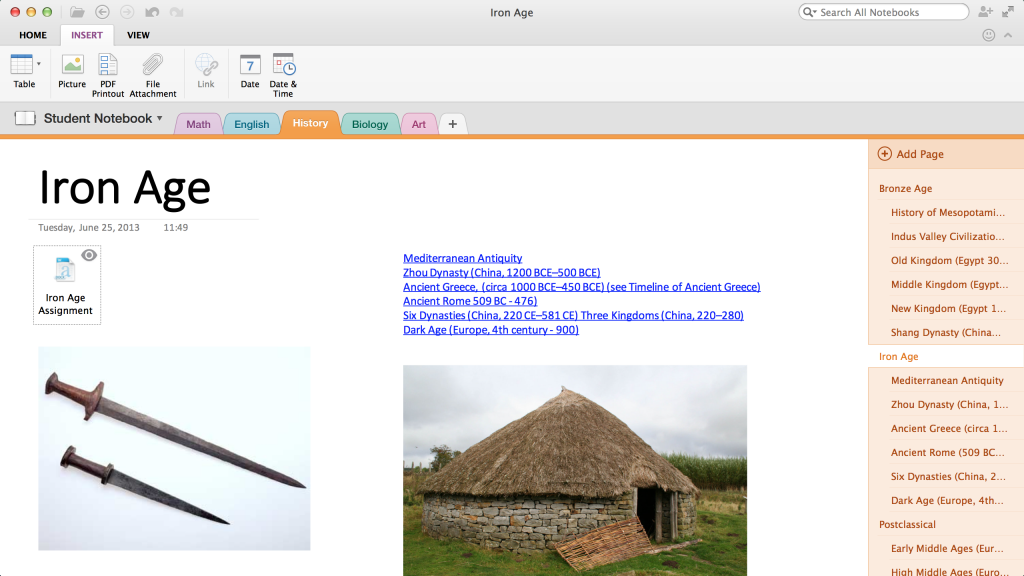 OneNote for Mac (screenshot 001)