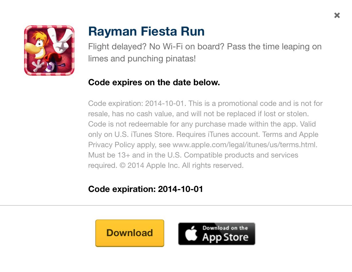 Rayman Fiesta Run free download via Expedia
