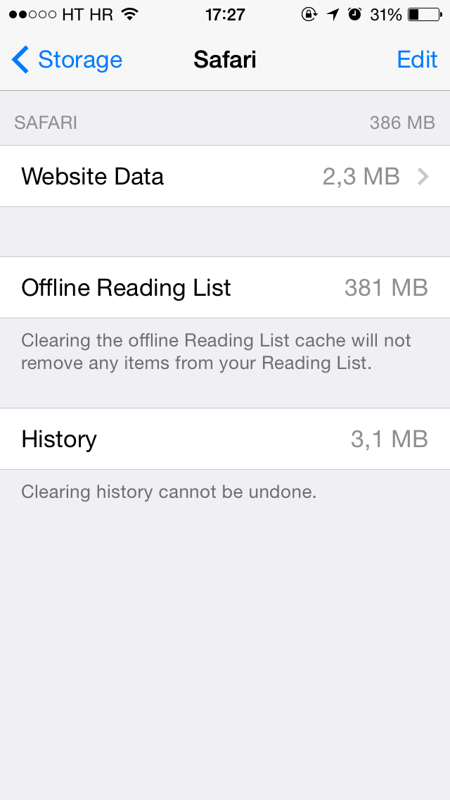 How To Save Storage Space By Deleting Safari S Offline