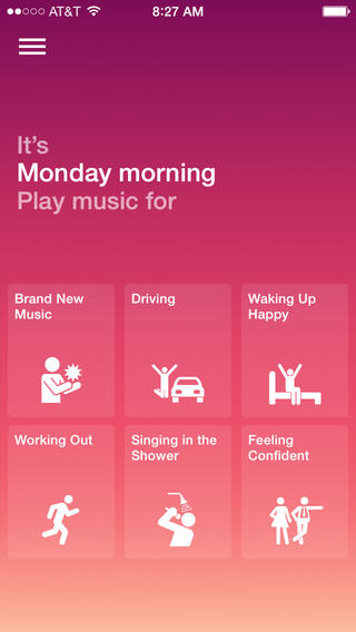 Songza 3.2.5 for iOS (iPhone screenshot 001)