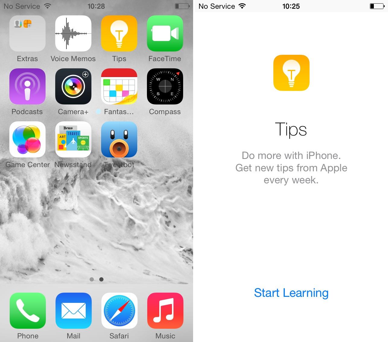 Tips app ios 8