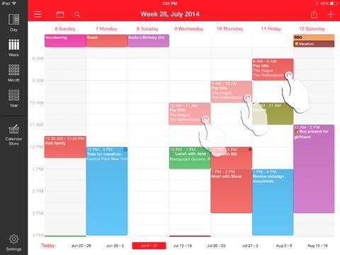 Calendario de la semana