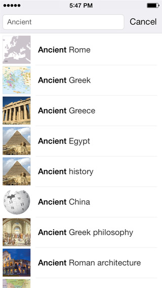 Wikipedia 4.0 for iOS (iPhone screenshot 003)