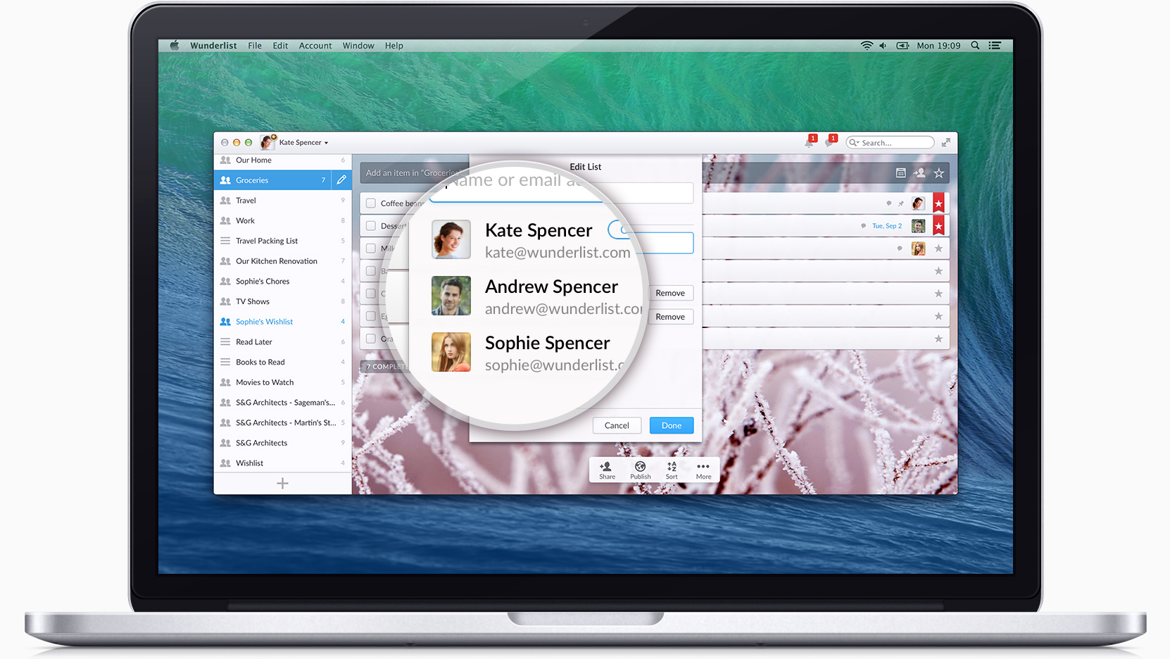 Wunderlist 3 releases, adding real-time sync, public lists