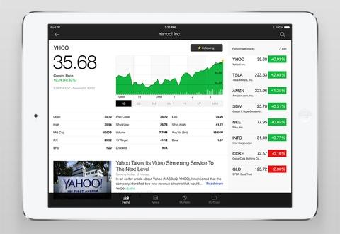 Yahoo Finance 2.2 for iOS (iPad screenshot 005)