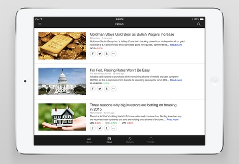 Yahoo Finance 2.2 for iOS (iPad screenshot 006)
