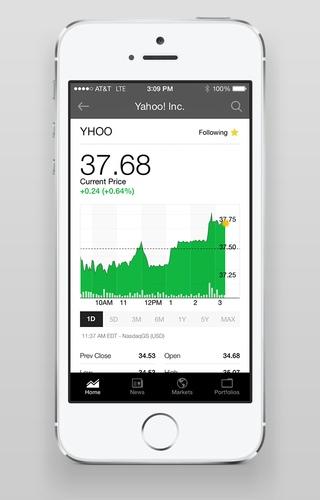 Yahoo Finance 2.2 for iOS (iPhone screenshot 003)