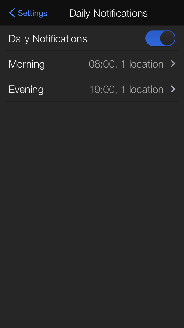 Yahoo Weather 1.5.6 for iOS (iPhone screenshot 001)