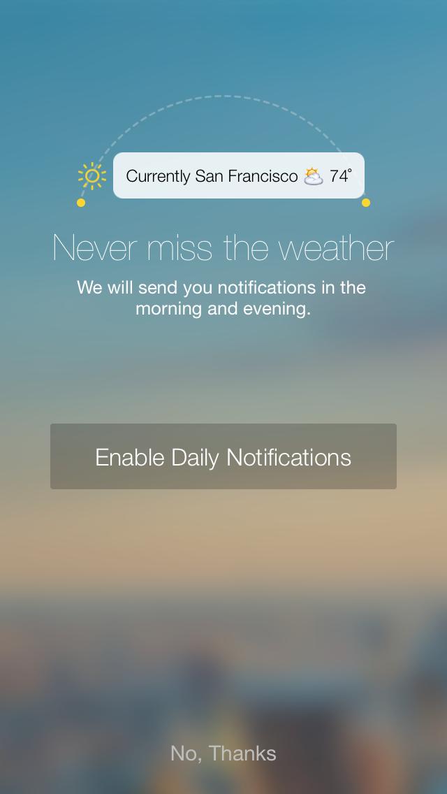 Yahoo Weather 1.5.6 for iOS (iPhone screenshot 002)