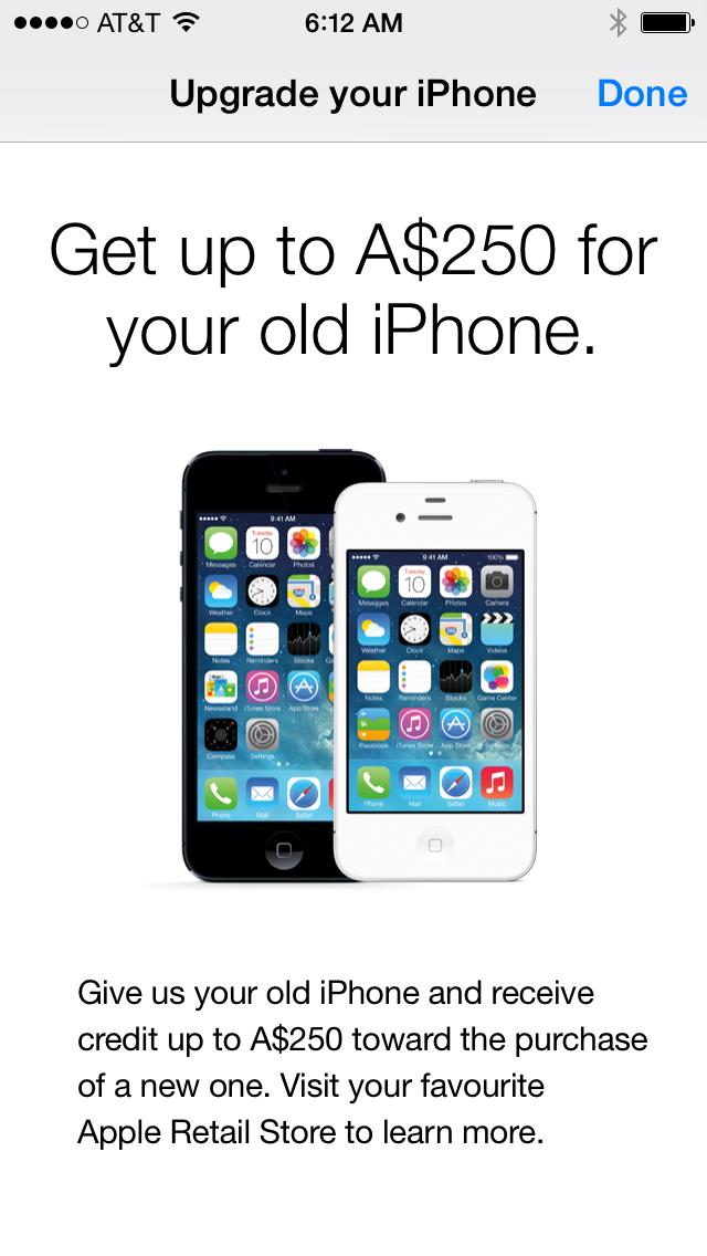 au iphone trade-in