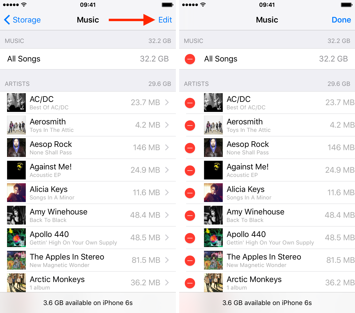 delete all music on iPhone