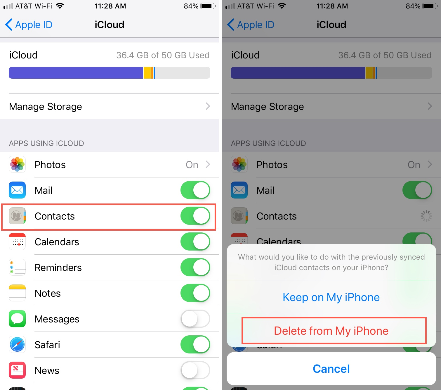 iCloud Contacts Delete from Phone iPhone