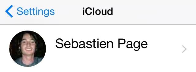 iCloud logged in