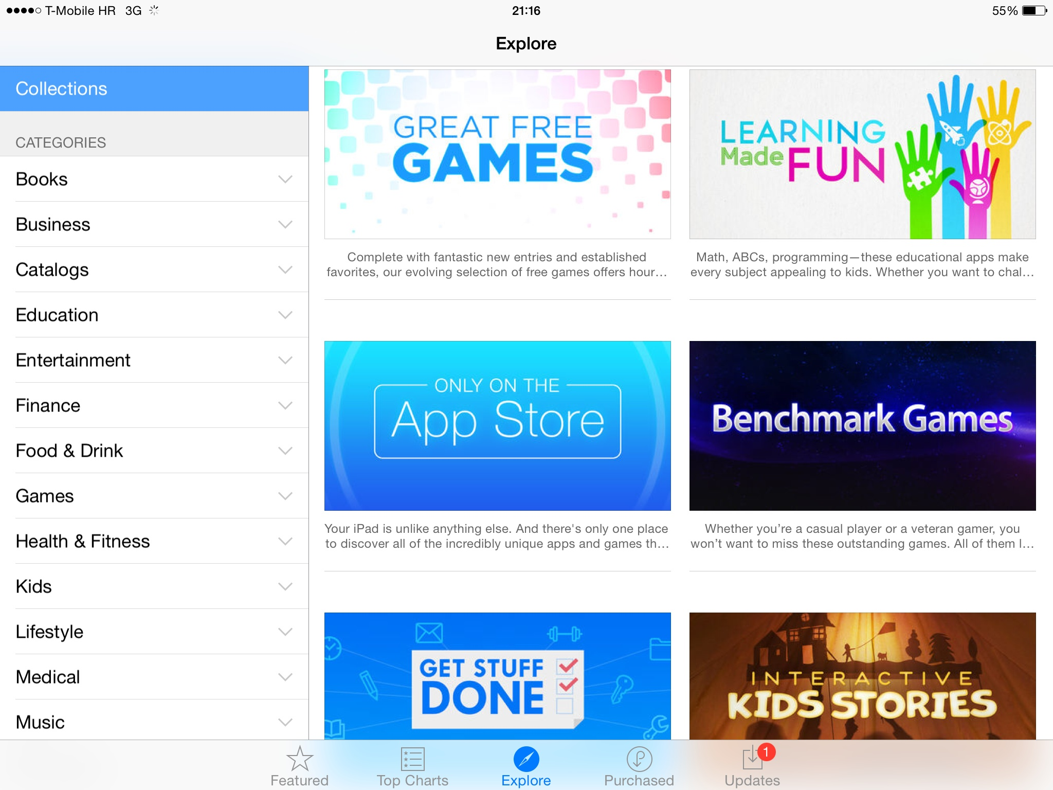 iOS 8 (App Store, Explore on iPad 001)