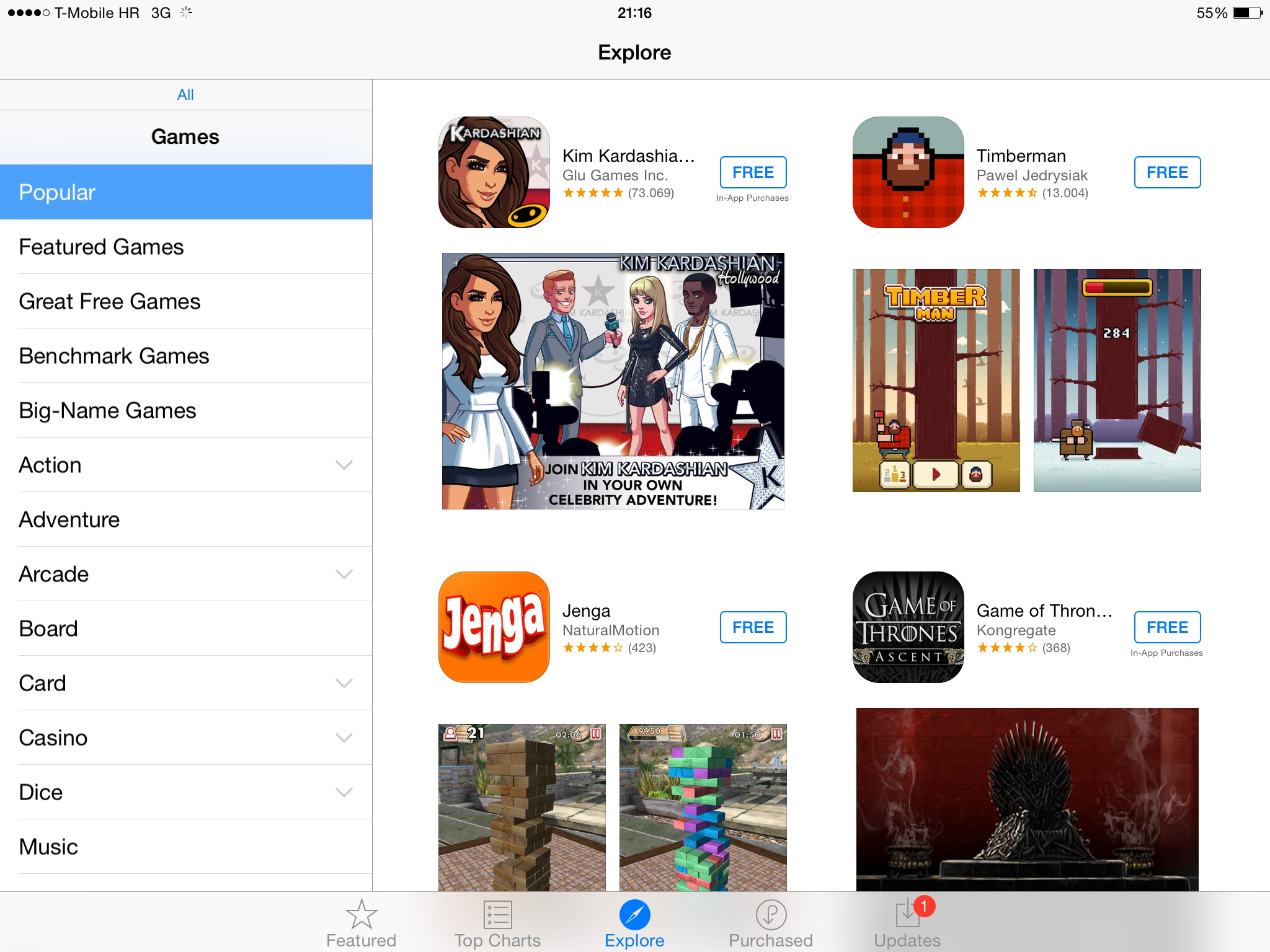 iOS 8 (App Store, Explore on iPad 002)
