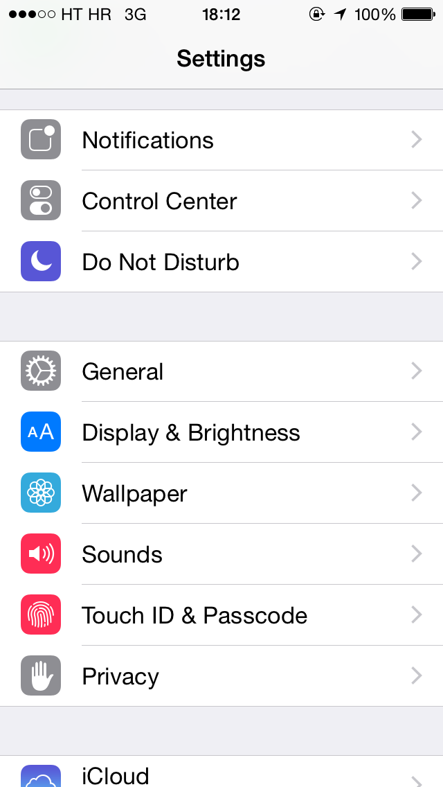 iOS 8 (Settings, Do Not Disturb 001)