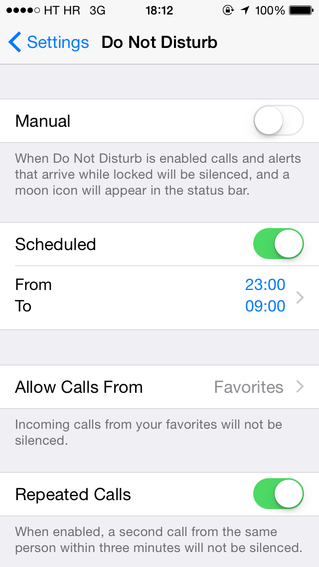 iOS 8 (Settings, Do Not Disturb 002)