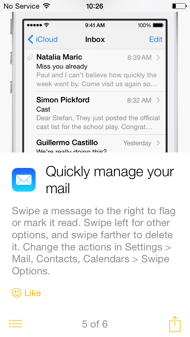 iOS 8 tip manage email