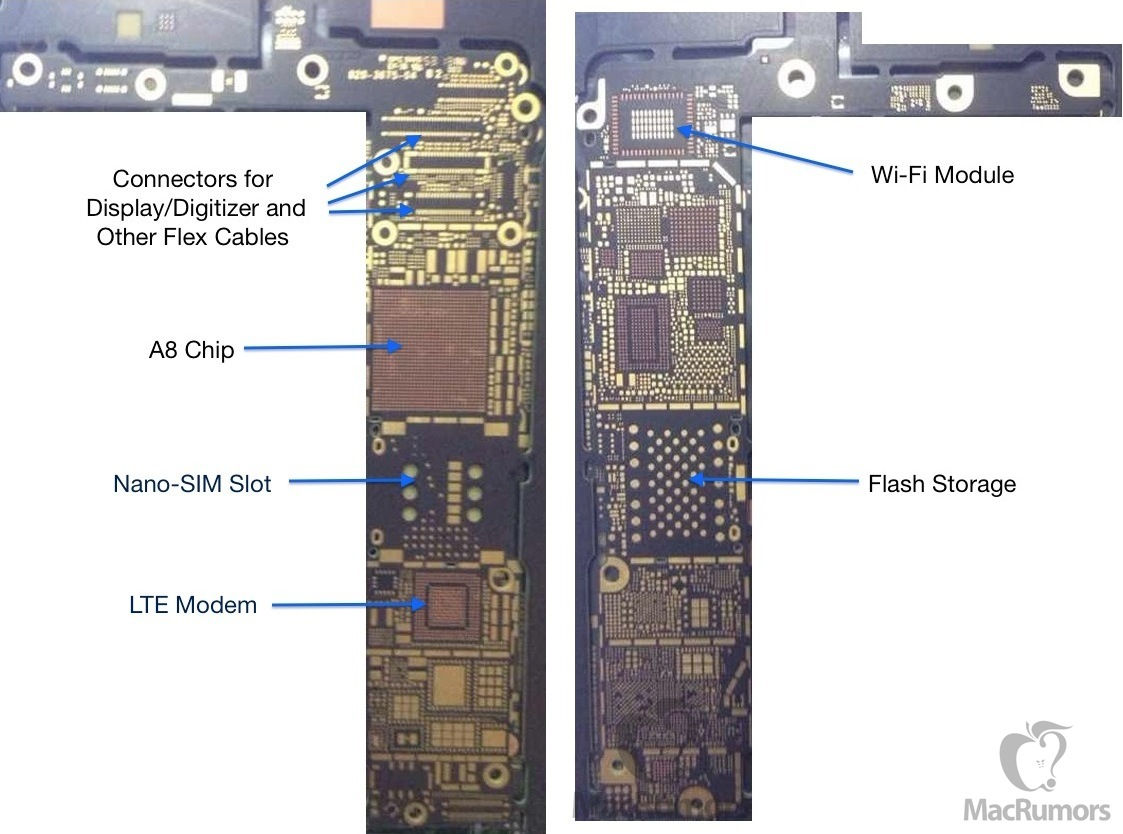 claimed circuit board hints at nfc-enabled iphone 6 – again! rca tv circuit board diagram iphone 6 plus circuit board diagram