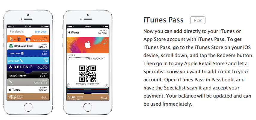 iTunes Pass mini site