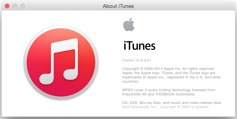 itunes 12 about