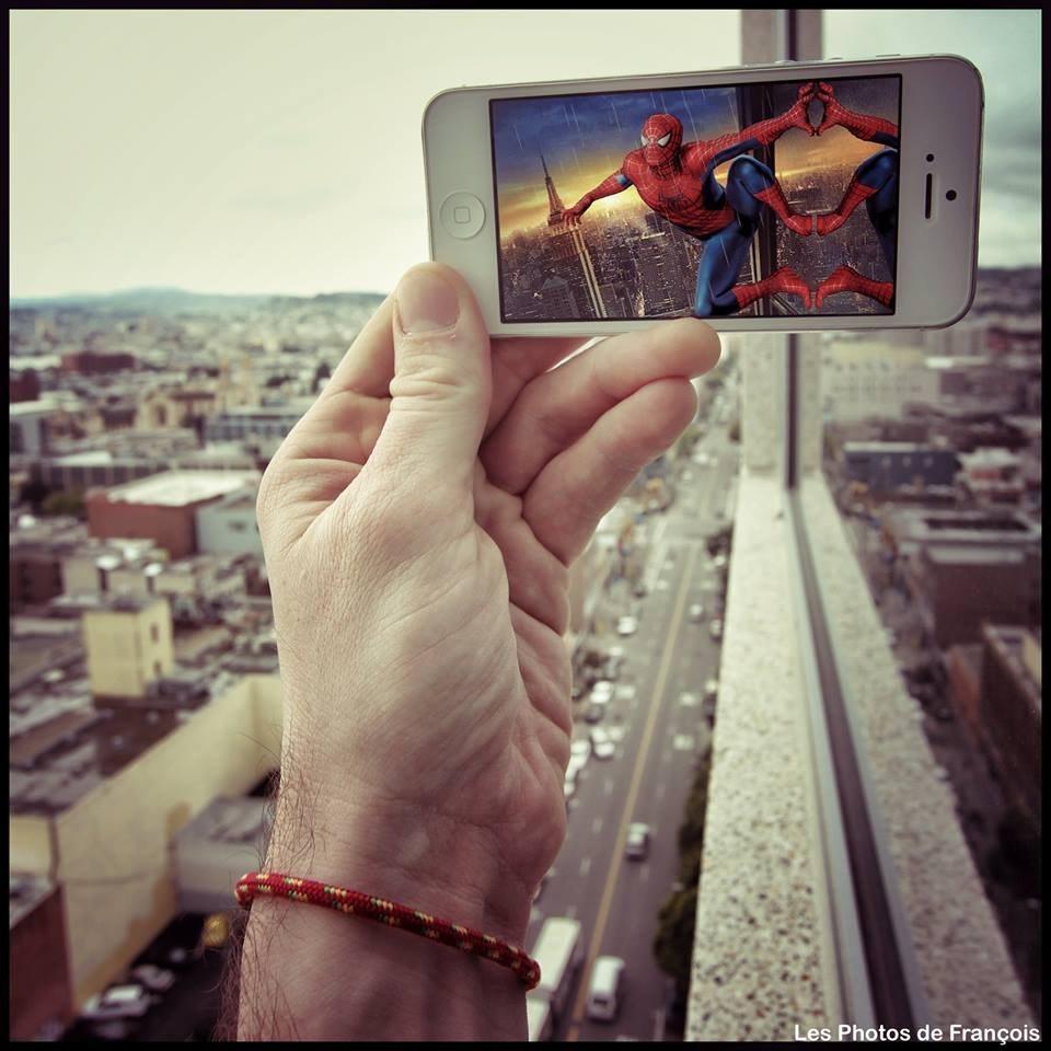les photos de francois spiderman