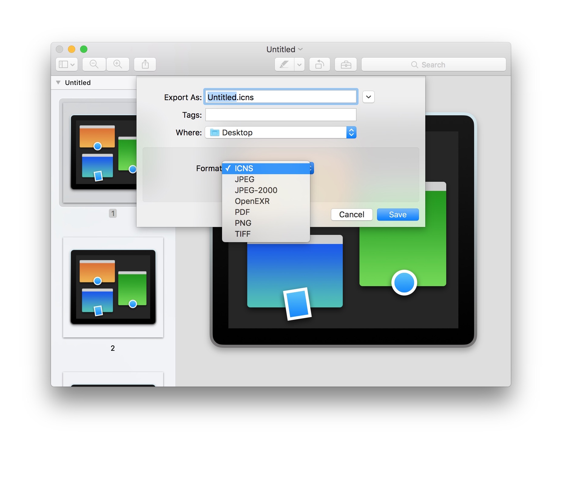 How to extract icons from Mac apps