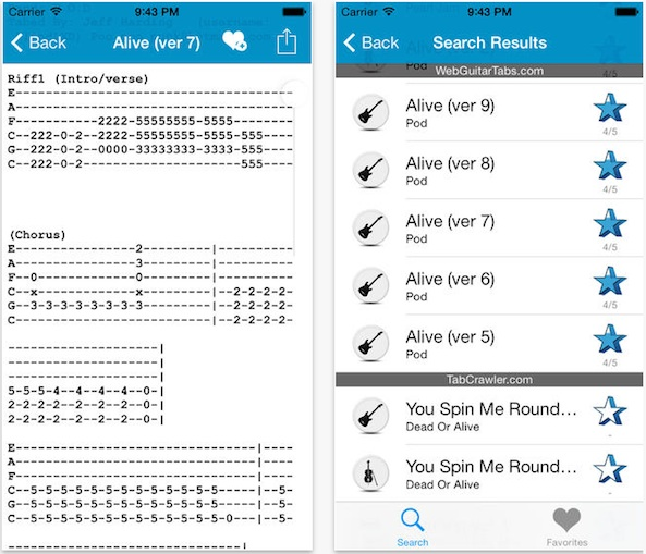 Best apps for guitar tabs and chords