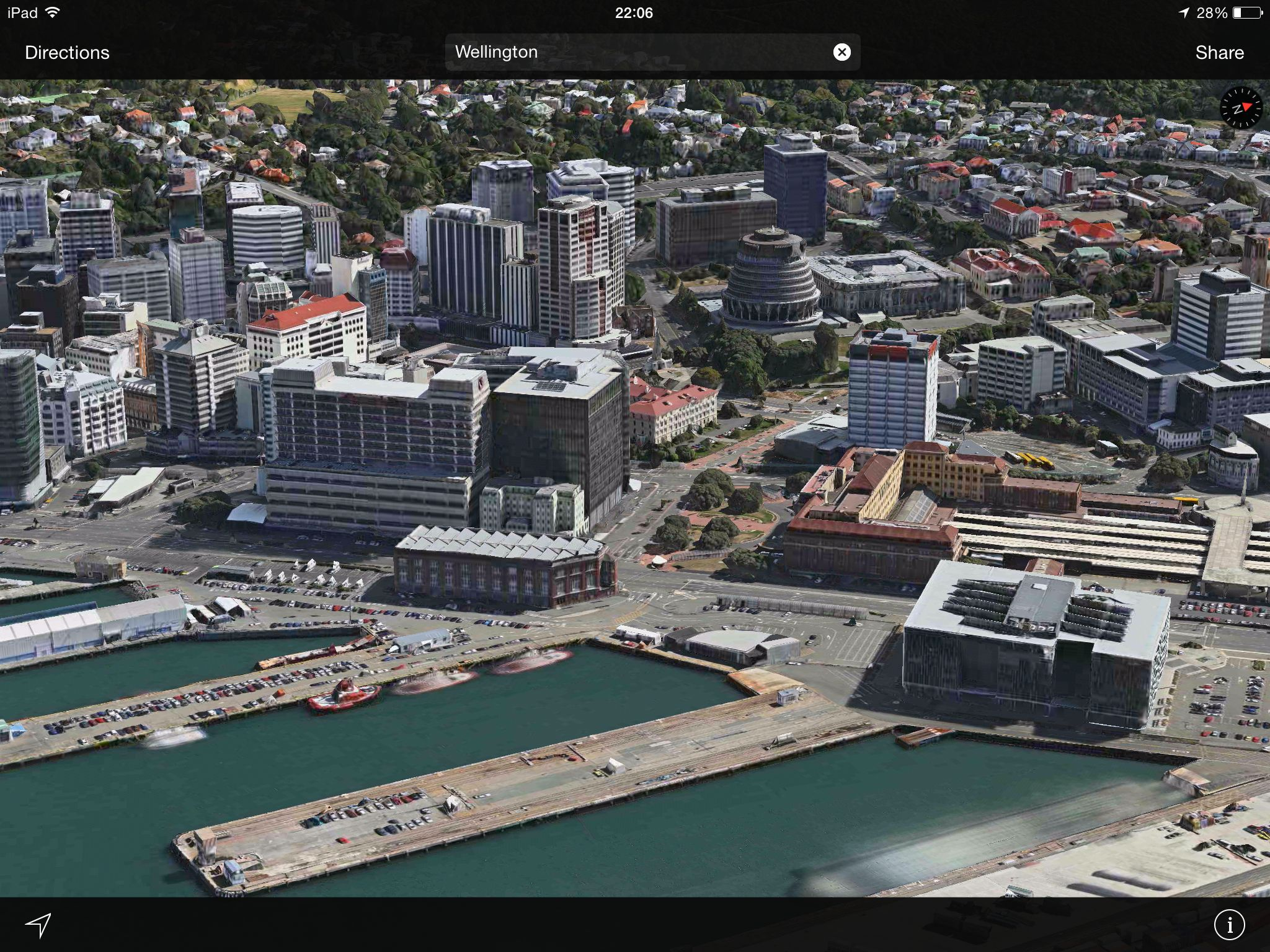 Apple Maps (Flyover, Wellington, New Zealand)