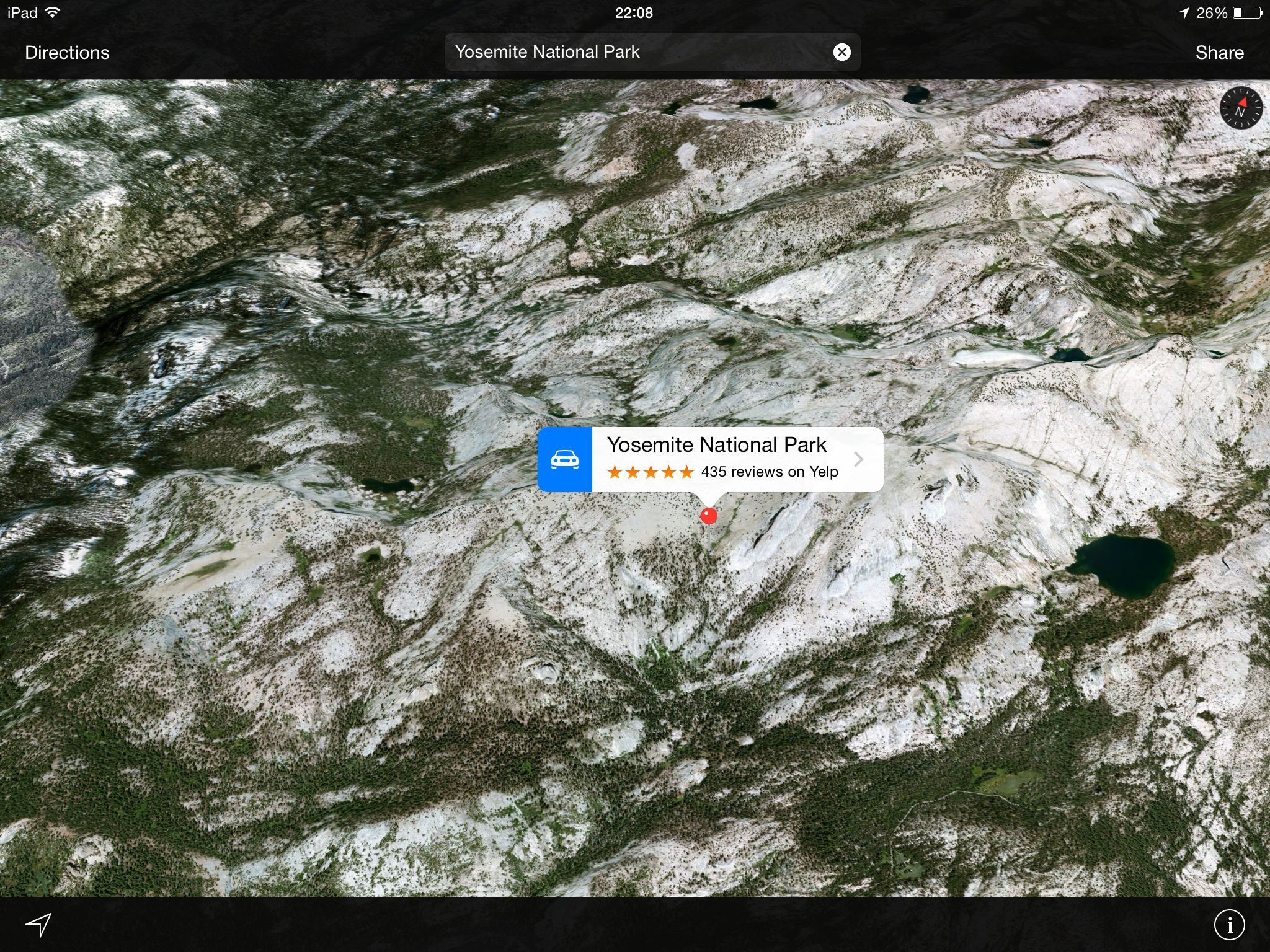 Apple Maps (Flyover, Yosemite National Park)