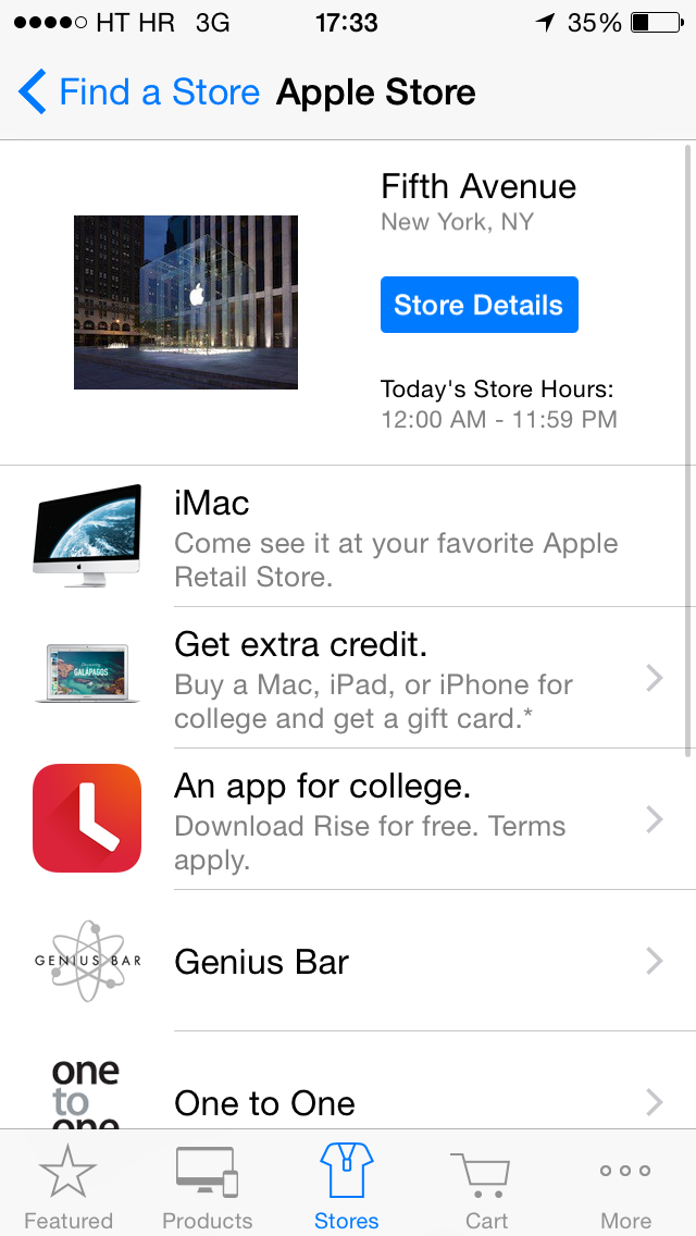 Apple Store (Free Rise Alarm Clock app 001)