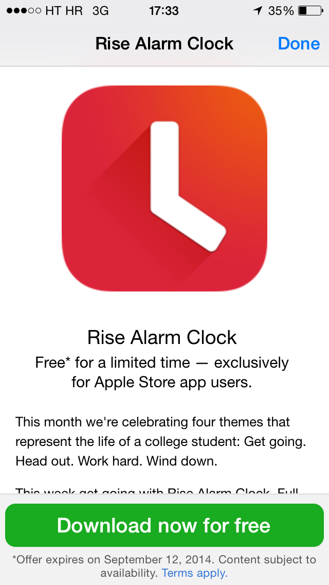 Apple Store (Free Rise Alarm Clock app 002)