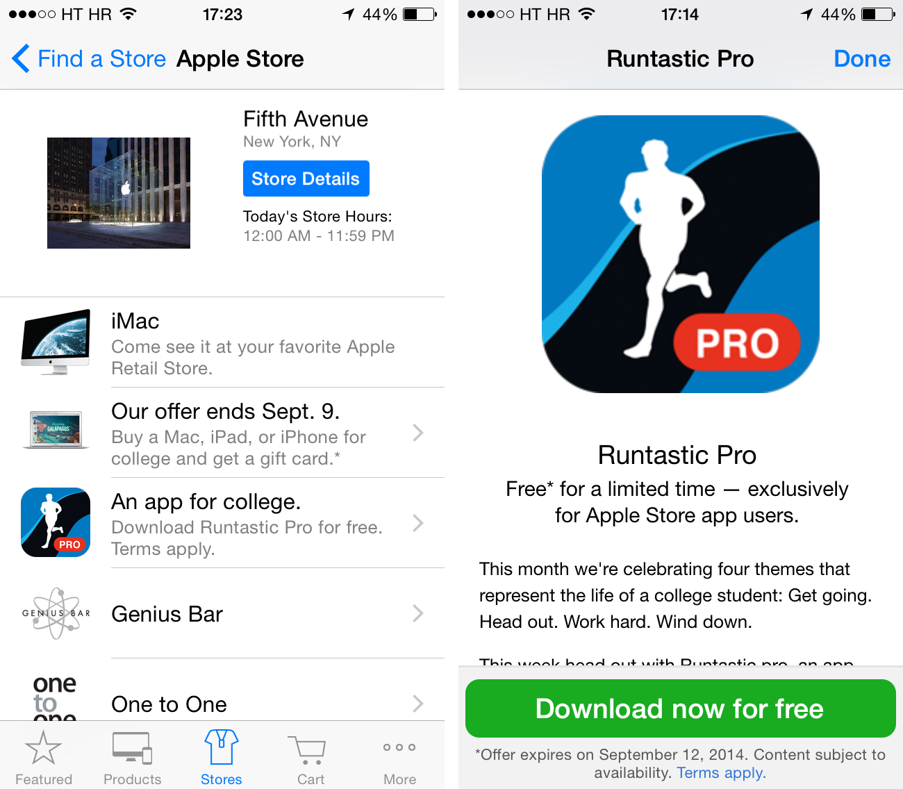 Apple Store (Runtastic Pro free offer 001)