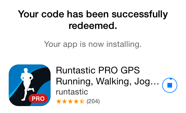Apple Store (Runtastic Pro free offer 003)