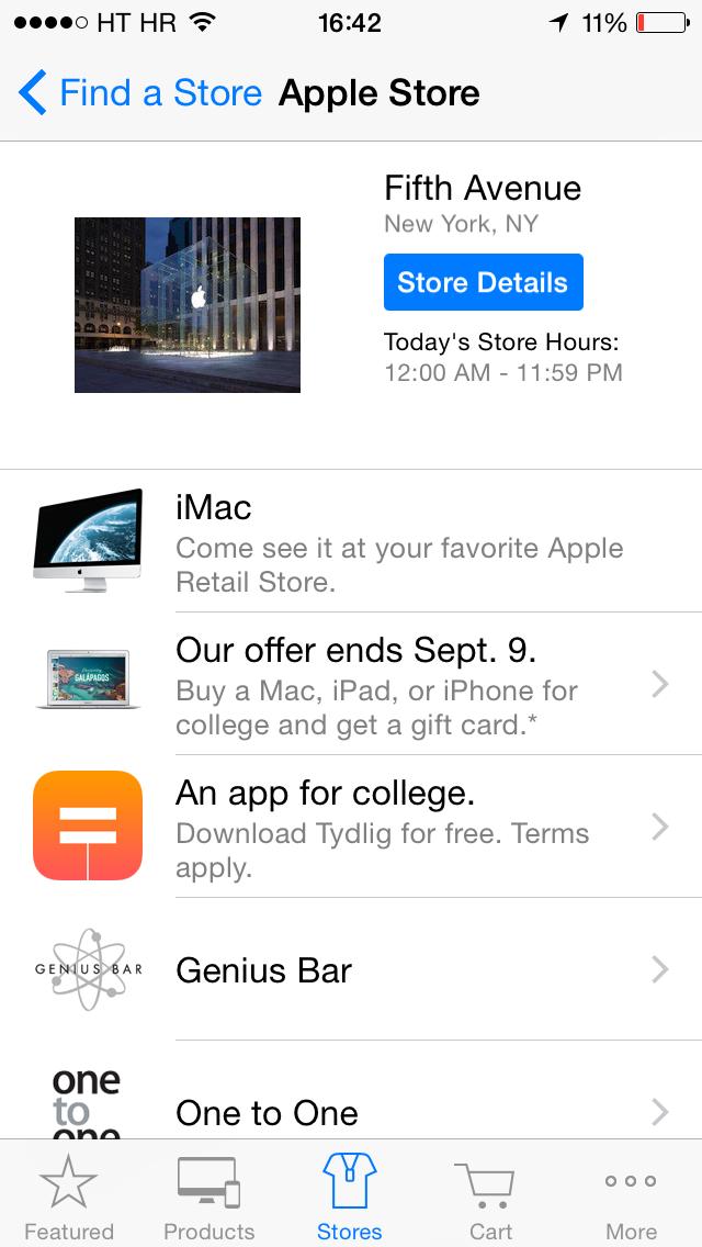 Apple Store (free app, Tydlig 001)