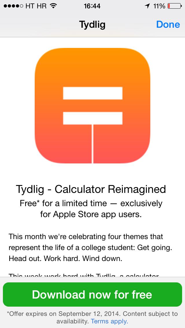 Apple Store (free app, Tydlig 002)