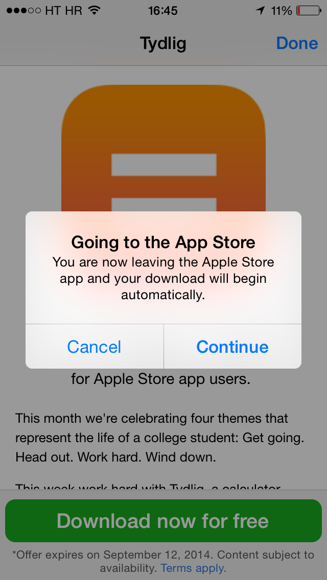 Apple Store (free app, Tydlig 003)